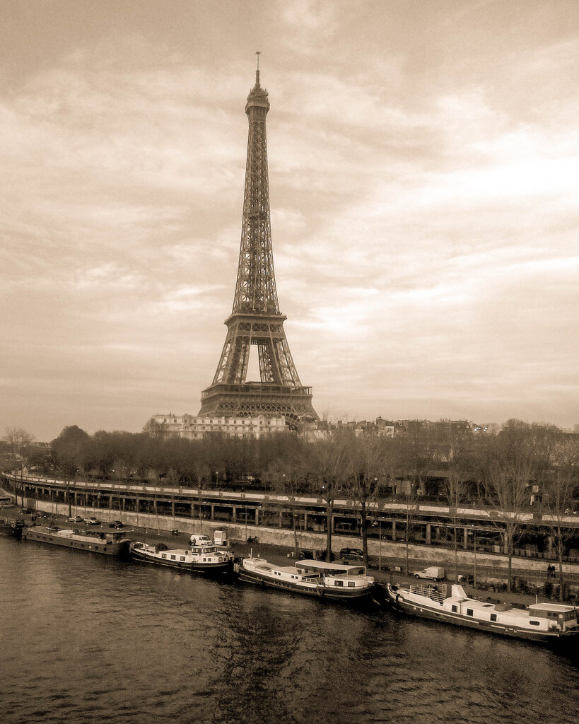 Lenny K Photography - Eiffel Tower in Vintage Sepia