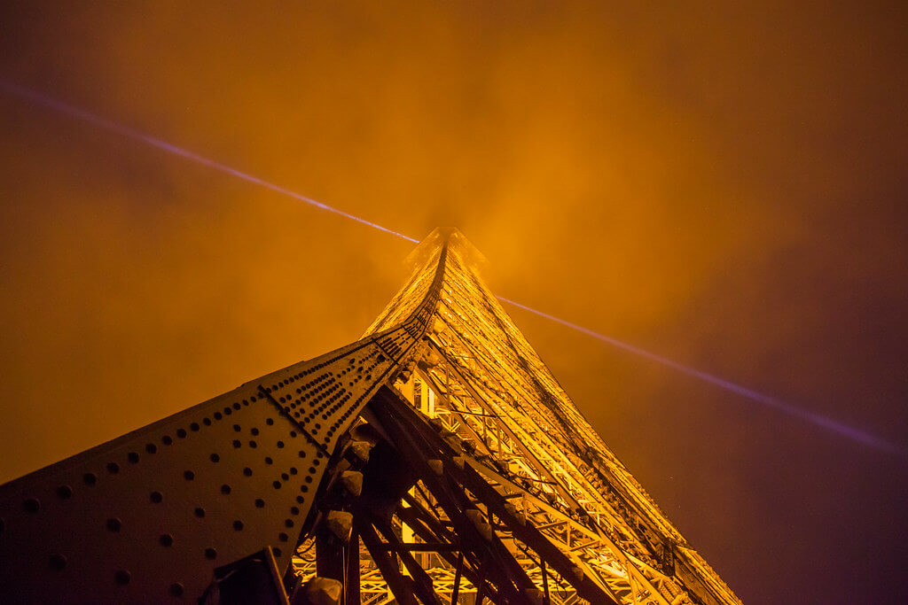 Bradley Weber - Eiffel Tower Looking Up