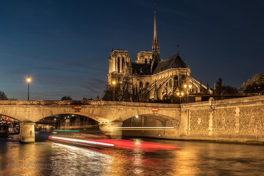 Howard Ferrier - Notre-Dame cathedral and Pont de l'Archevêché