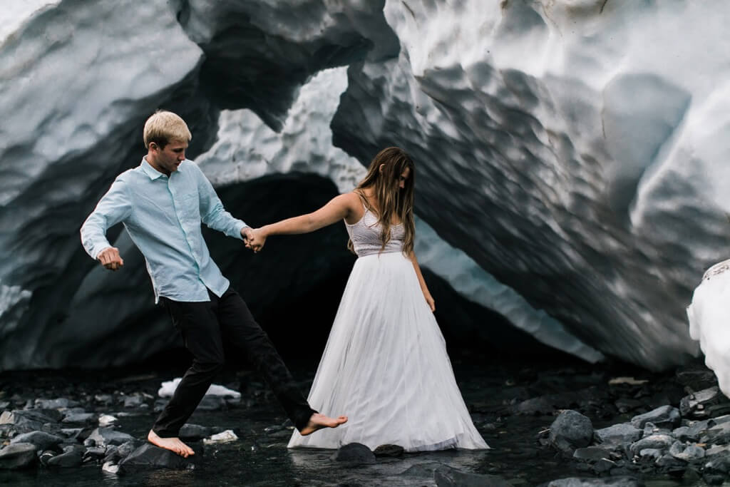Hearnes Elopement Photography - Alaska Glacier Adventure Wedding Alyeska