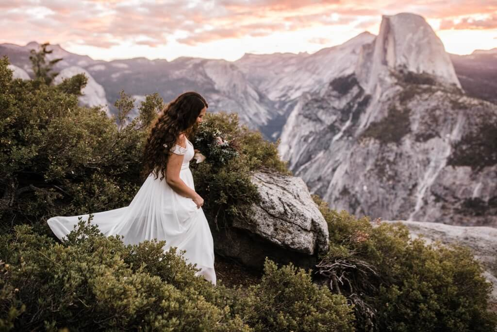 Hearnes Elopement Photography - Yosemite Sunrise Glacier Point
