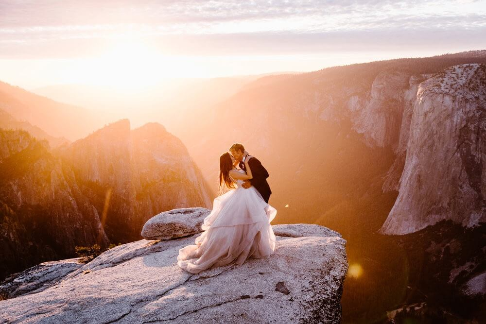 Hearnes Elopement Photography - Taft Point Adventure Wedding Yosemite National Park
