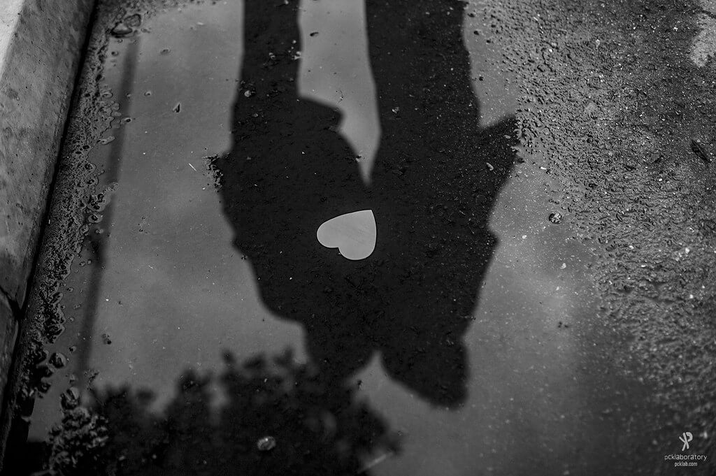 Yane Naumoski - heart puddle reflection