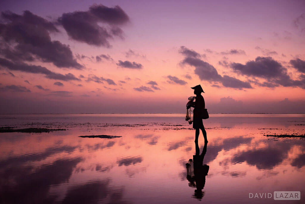 David Lazar - Bali -Sunrise Fisherman near Sanur