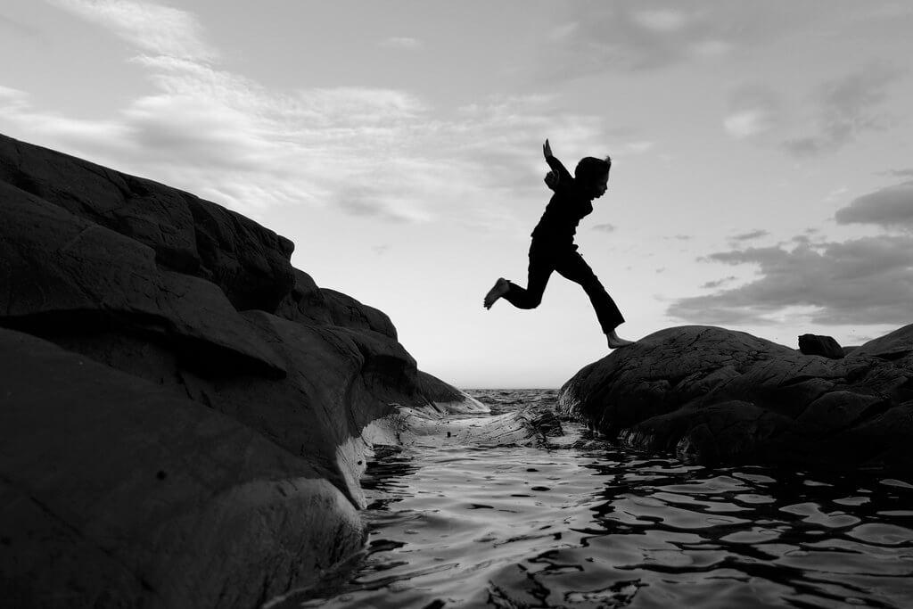 Erik - Jump silhouette