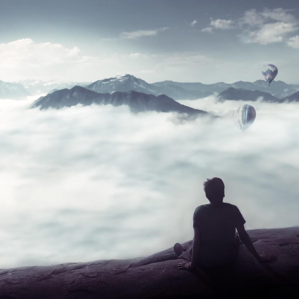 Azfar Nasirudin - mountains hot air balloon