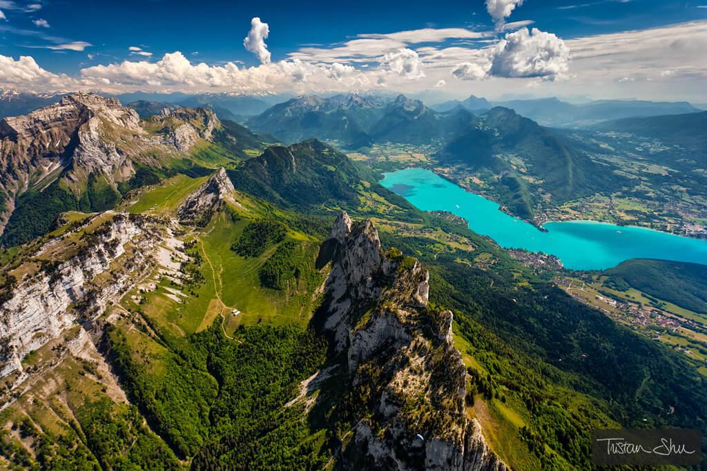 Tristan 'Shu' Lebeschu - birds-eye view mountains