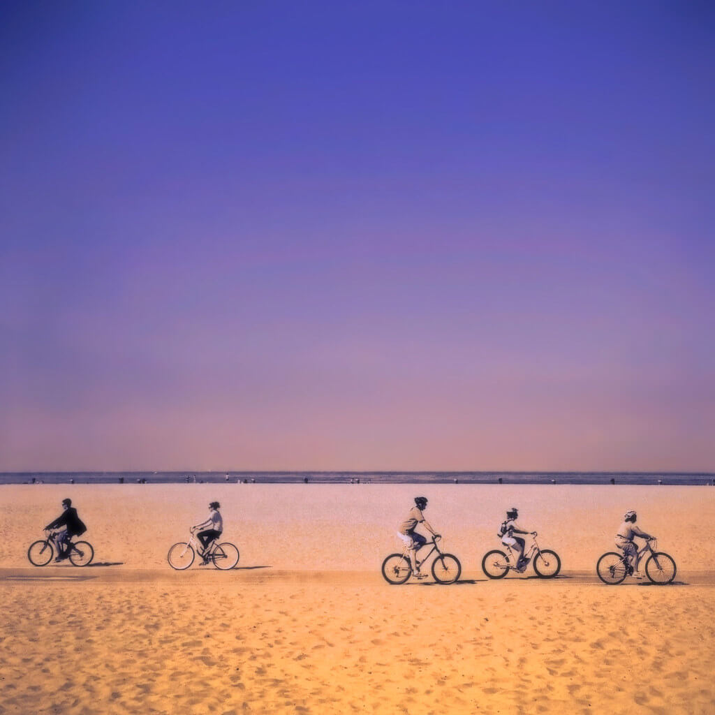 Sharon LuVisi - bicycles on beach