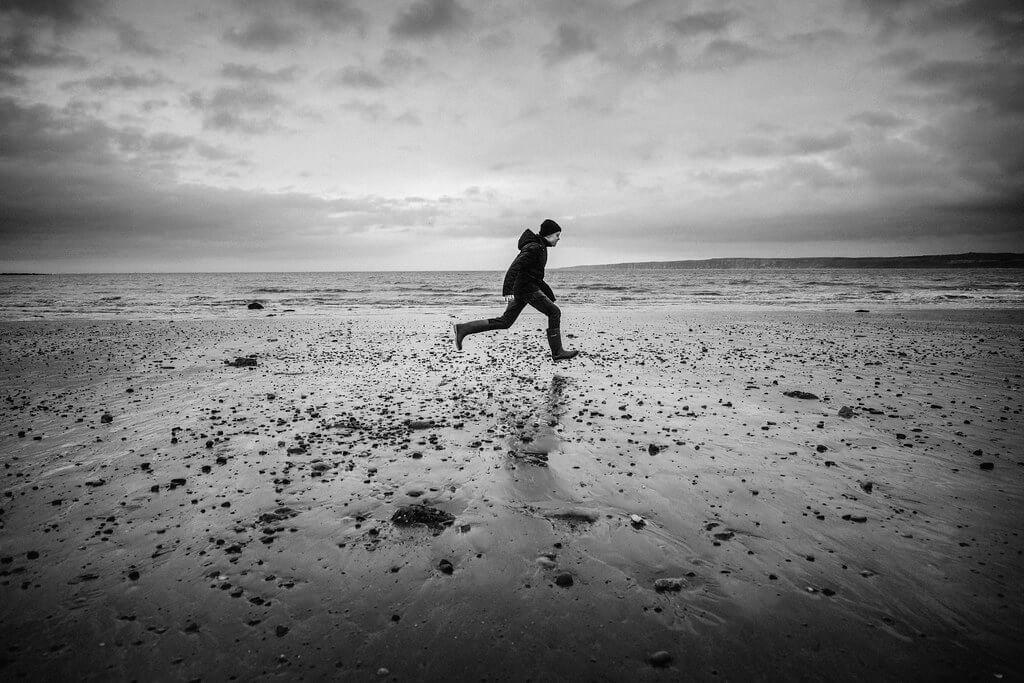 James Drury - running on beach