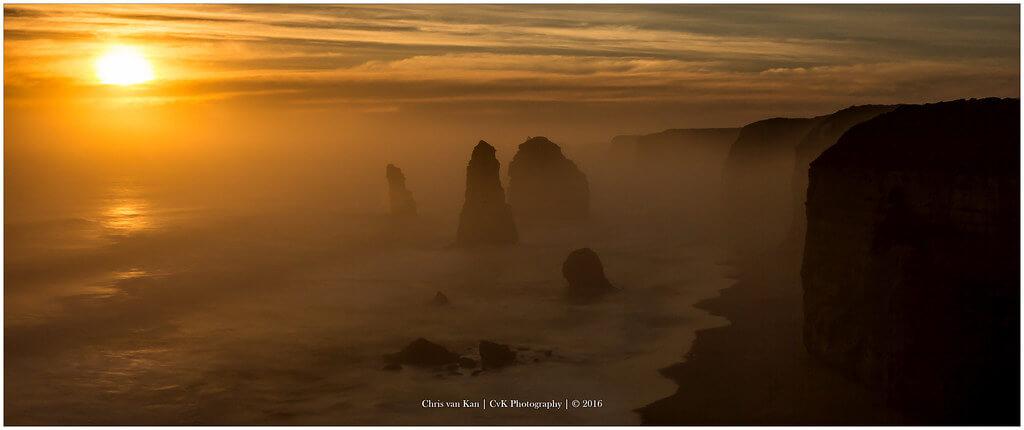 Chris van Kan - Misty Ocean, Australia
