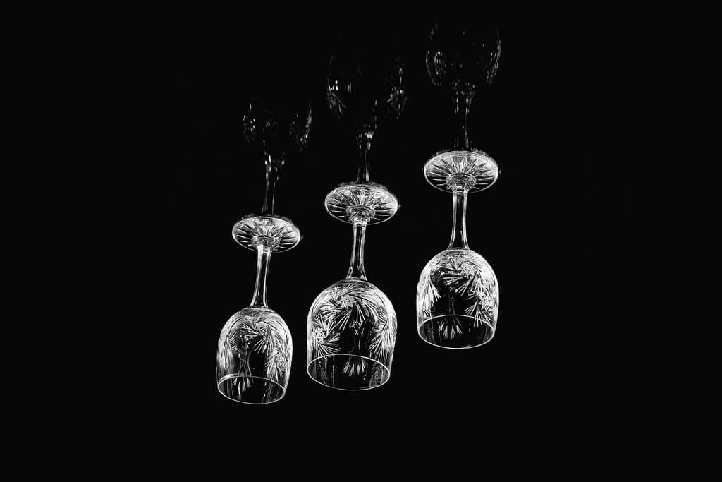 Marcin Krawczyk - upside down glass cups