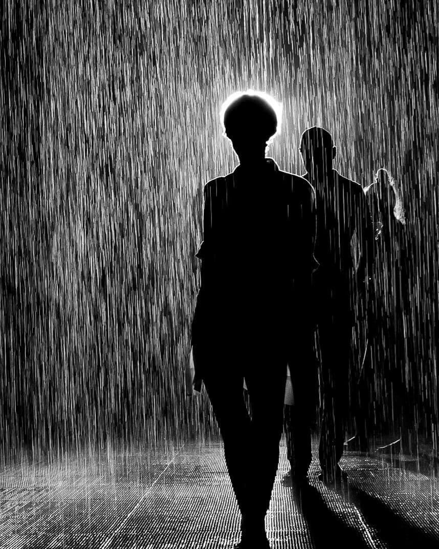 Daniel Turan - black and white rain