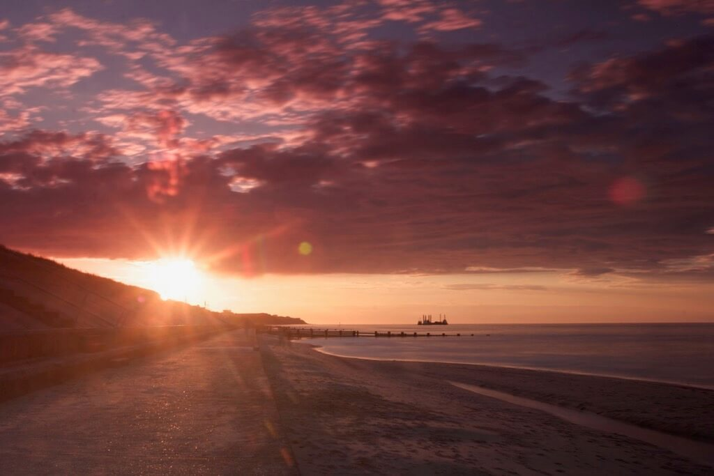 Barry Fisher - Sunset in Bacton, Norfolk