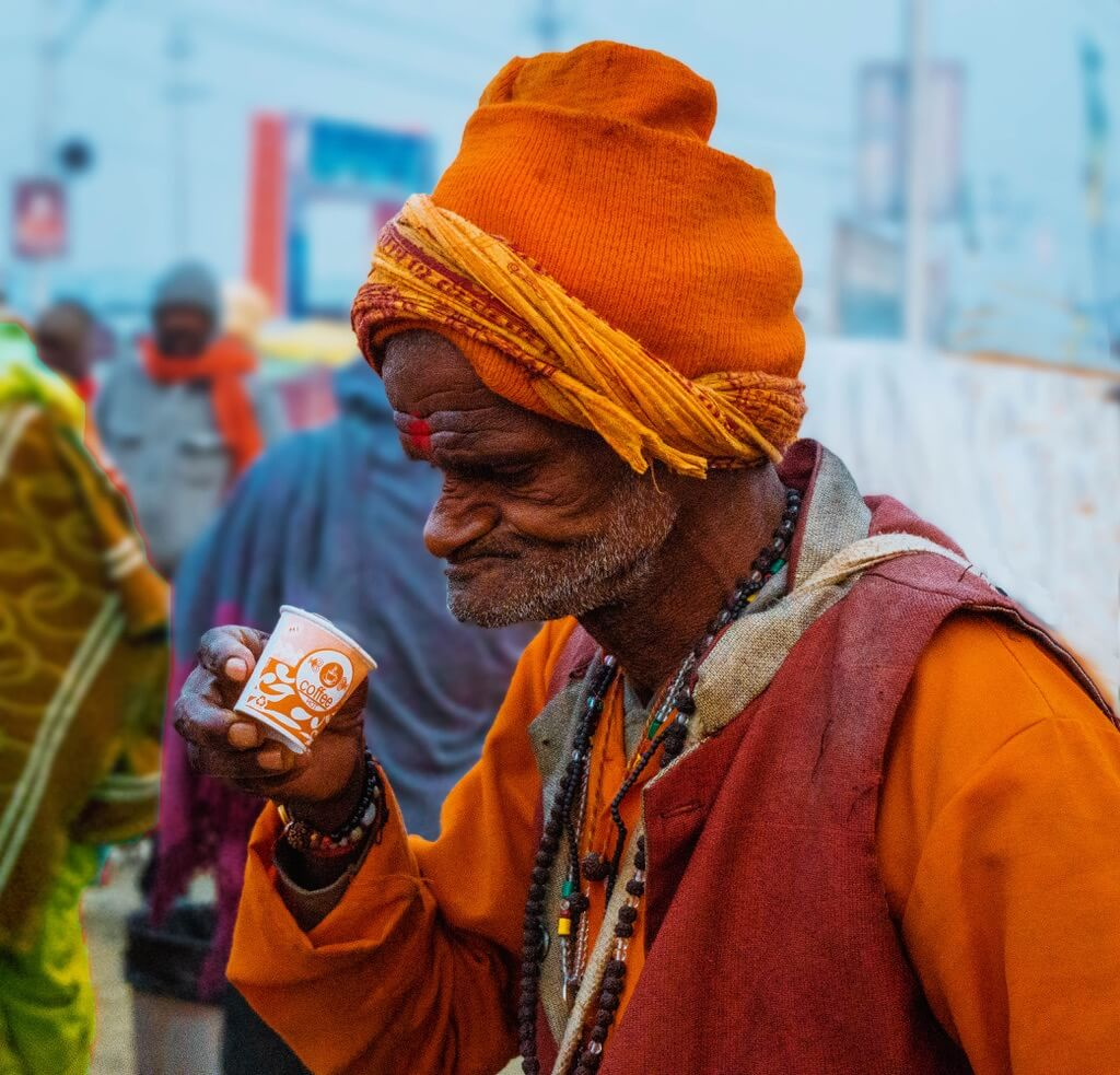 Manish (Valmie) Joshi - man drinking tea