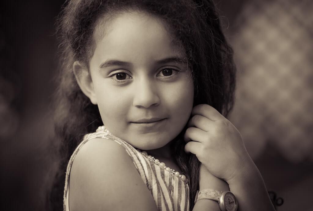 Amine Fassi - sepia kid portrait