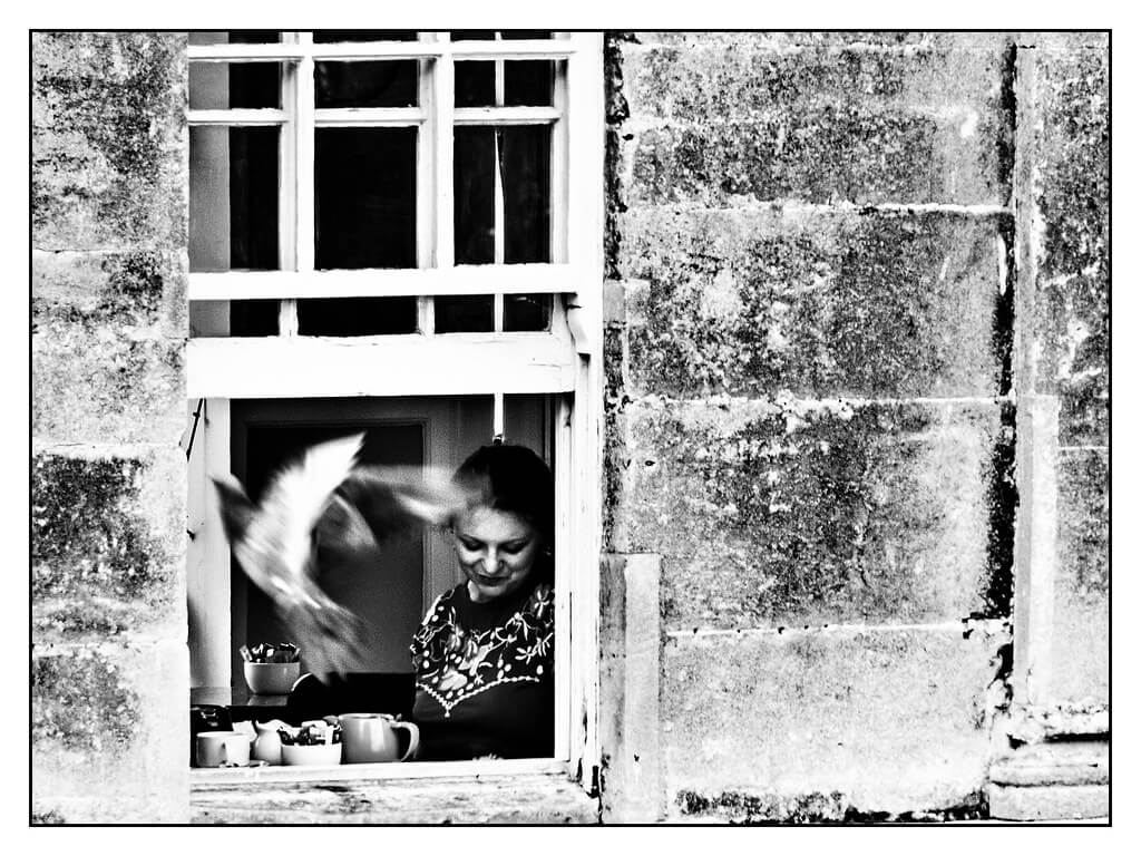benoit alluin - tea at window