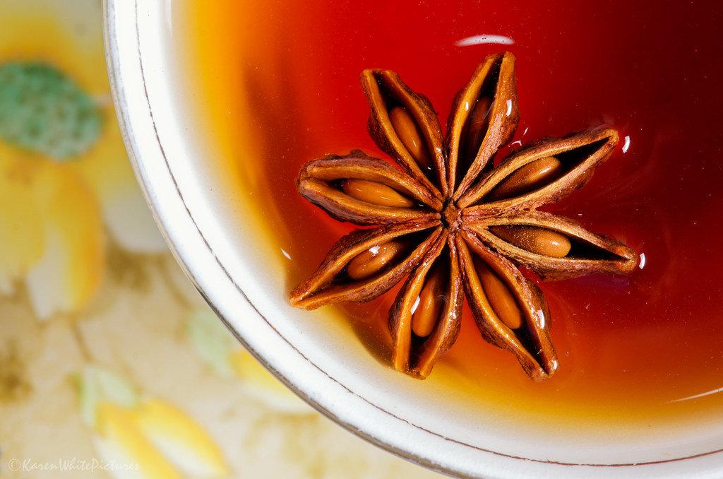 Karen White - rooibos chai tea with star anise
