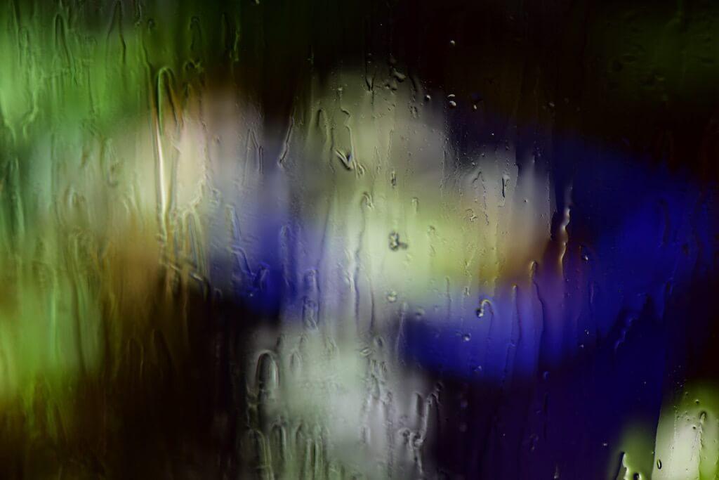 Jeff Montgomery - rain on window
