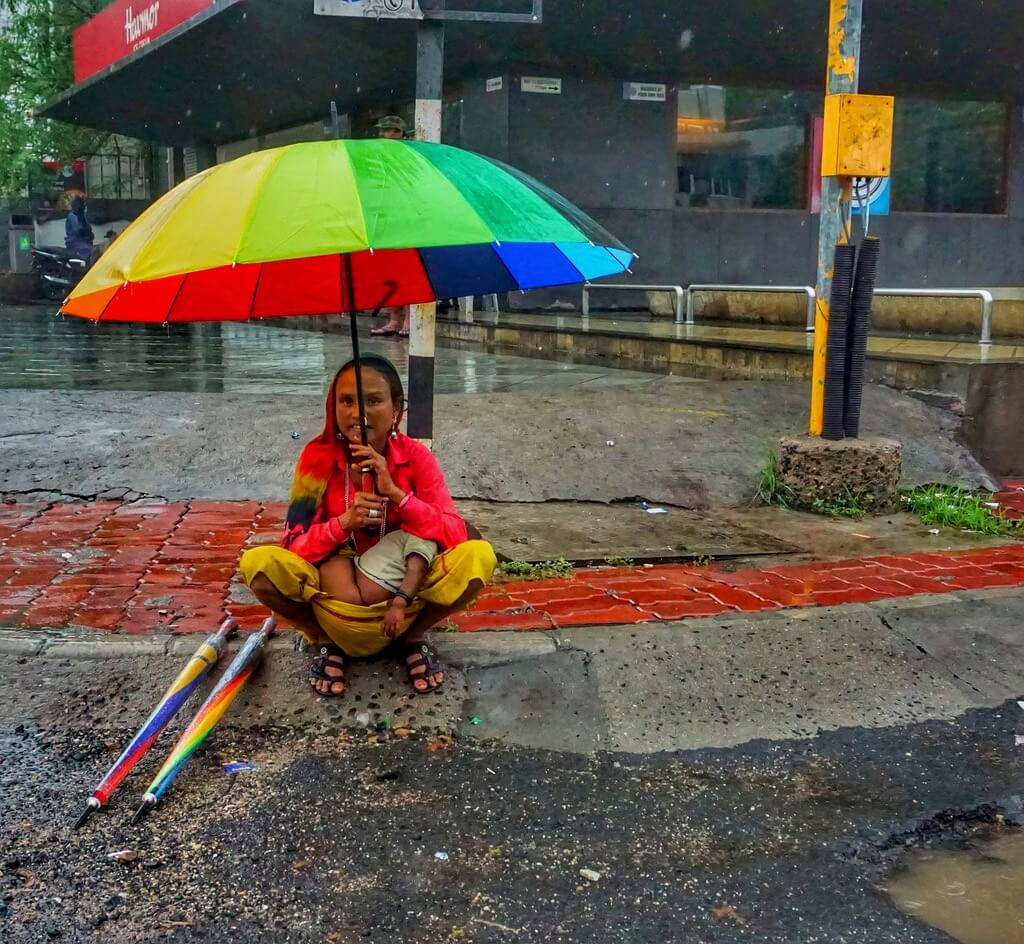 Manish (Valmie) Joshi - Mother with Umbrella