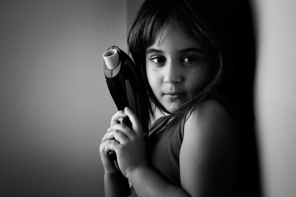 Amine Fassi - girl with toy gun