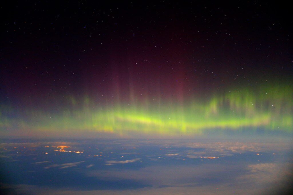Paul Williams - northern lights from airplane
