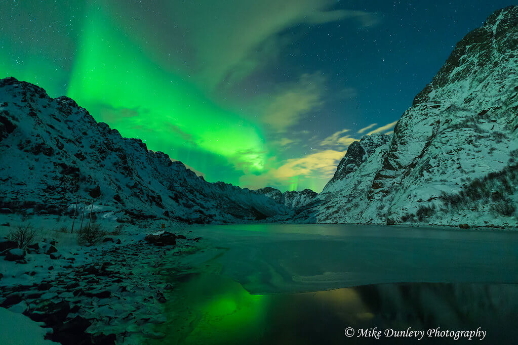 Mike Dunlevy - Henningsfjord Aurora Reflections