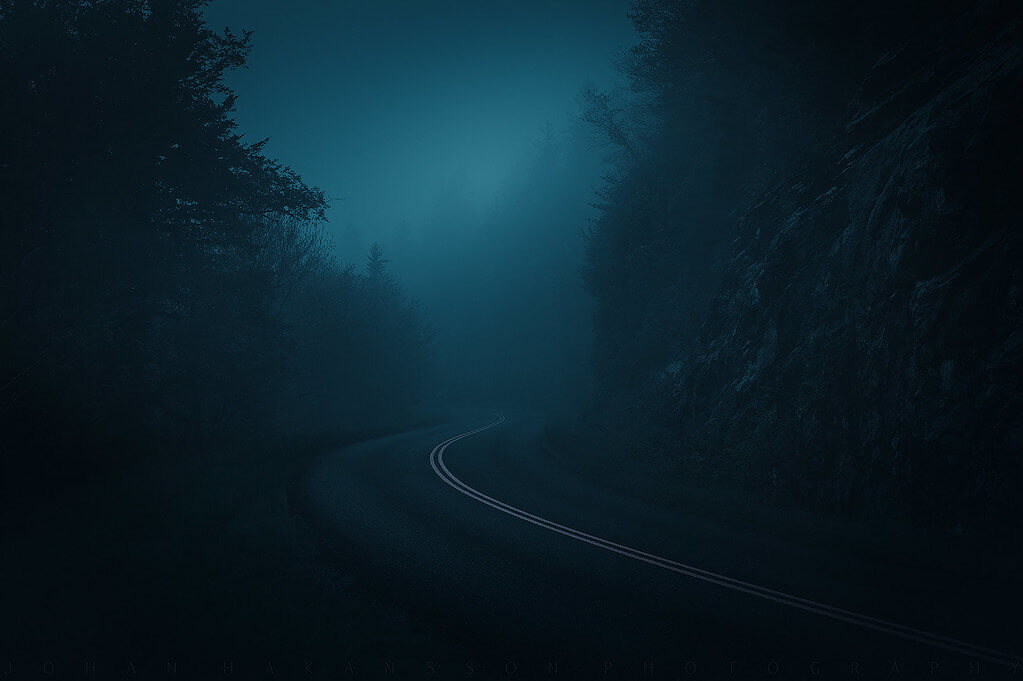 Johan Hakansson Photography - Blue Ridge Parkway with Rain and Mist
