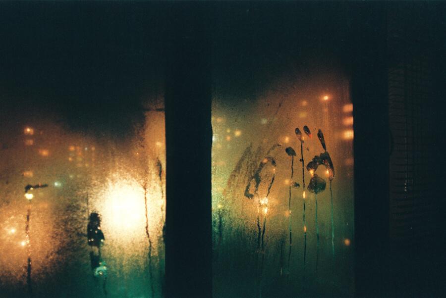 Dmitriy Fokeev - handprint on window