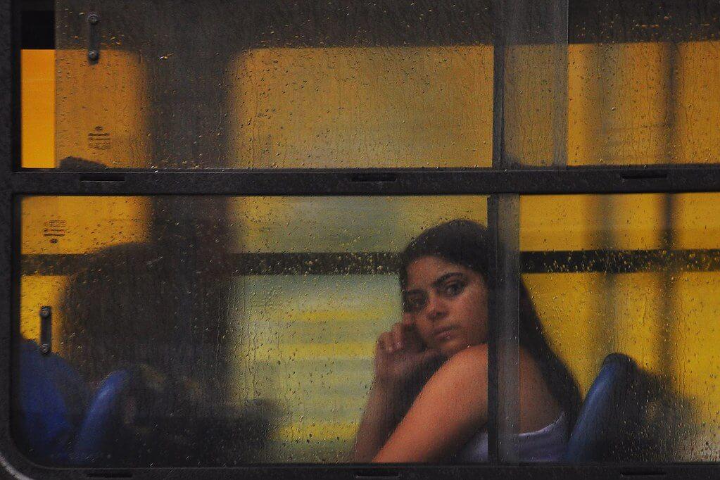 Otacílio Rodrigues - girl in bus