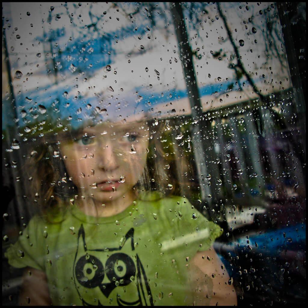 Todd Baker - rainy window portrait