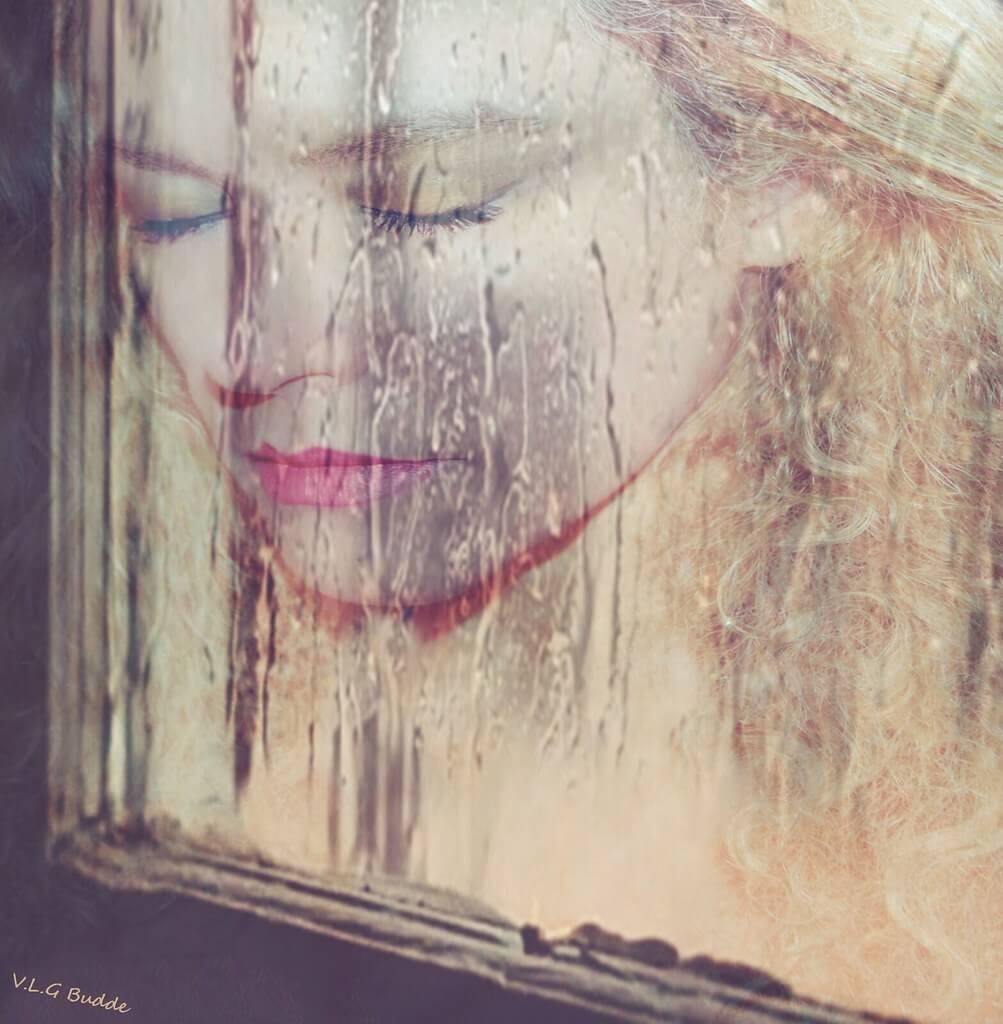V.L.GIL - rainy window portrait