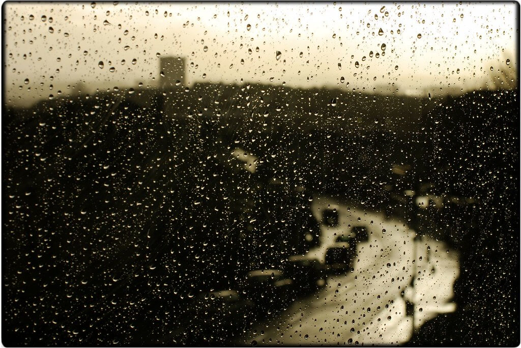 Mayastar Lavi - black and white rain window