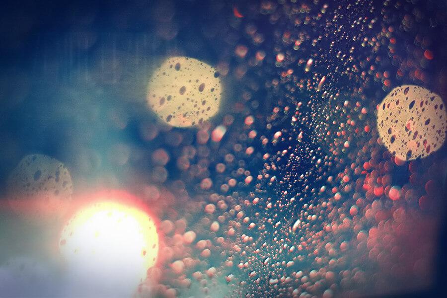 A♥ - bokeh rain