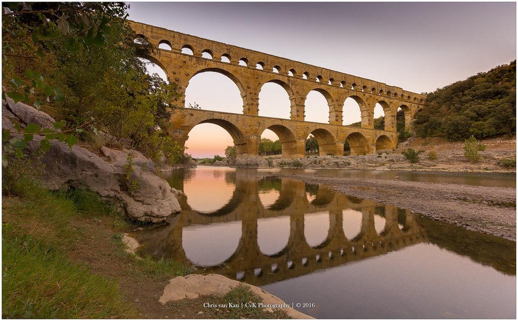 Chris van Kan - Pont Du Gard by Sunset, France