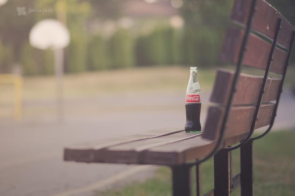 jordan parks - coke bottle on bench