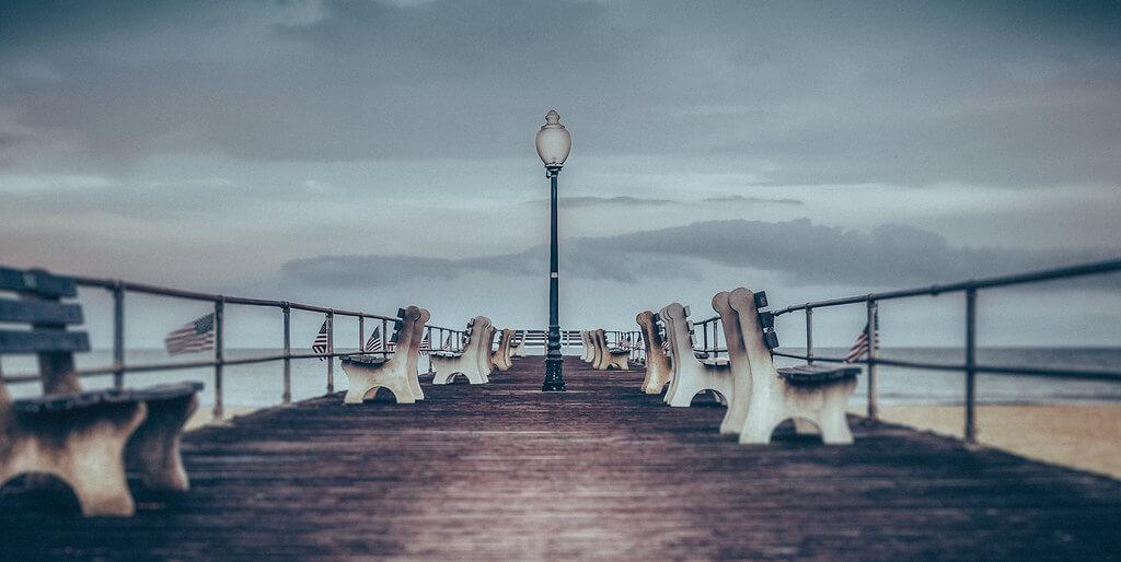 Steve Stanger - stormy boardwalk (Ocean Grove NJ)