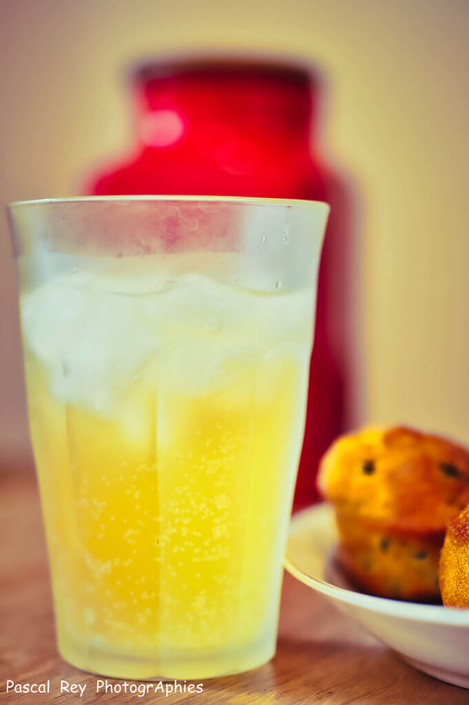 Pascal Rey - Mango syrup with cold sparkling water on the rocks