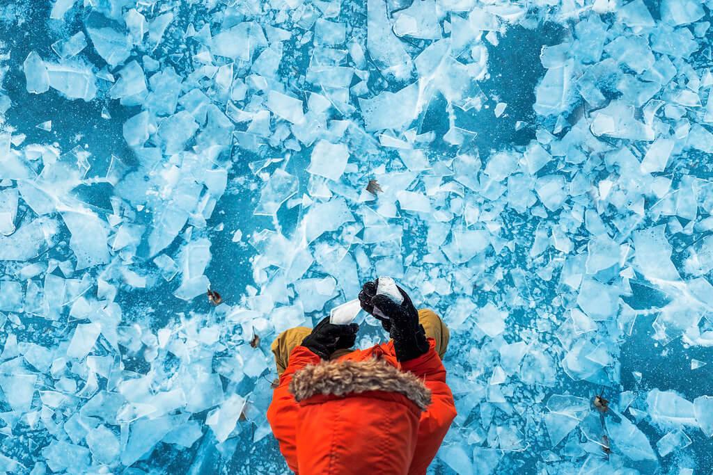 Elizabeth Sallee Bauer - Frozen lake