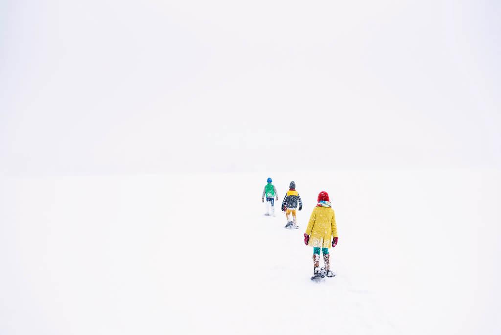 Elizabeth Sallee Bauer - Snowshoeing
