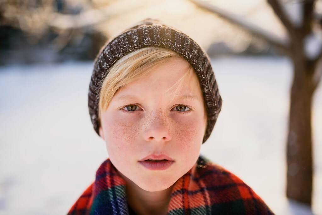Elizabeth Sallee Bauer - Winter portrait