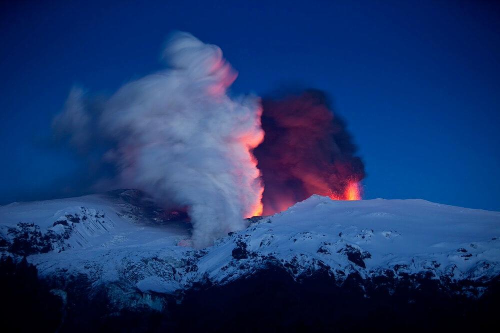 Ragnar Th. Sigurdsson - Lava and smoke, Eyjafjallajokull Volcano Erupting, Iceland