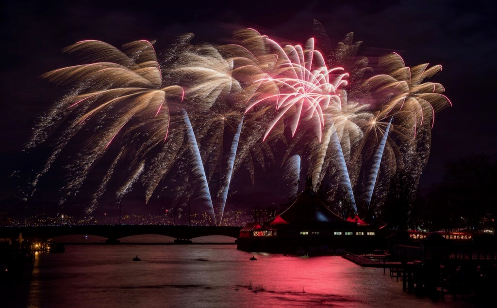 Greg Waddell - Fireworks display in Zurich, Switzerland