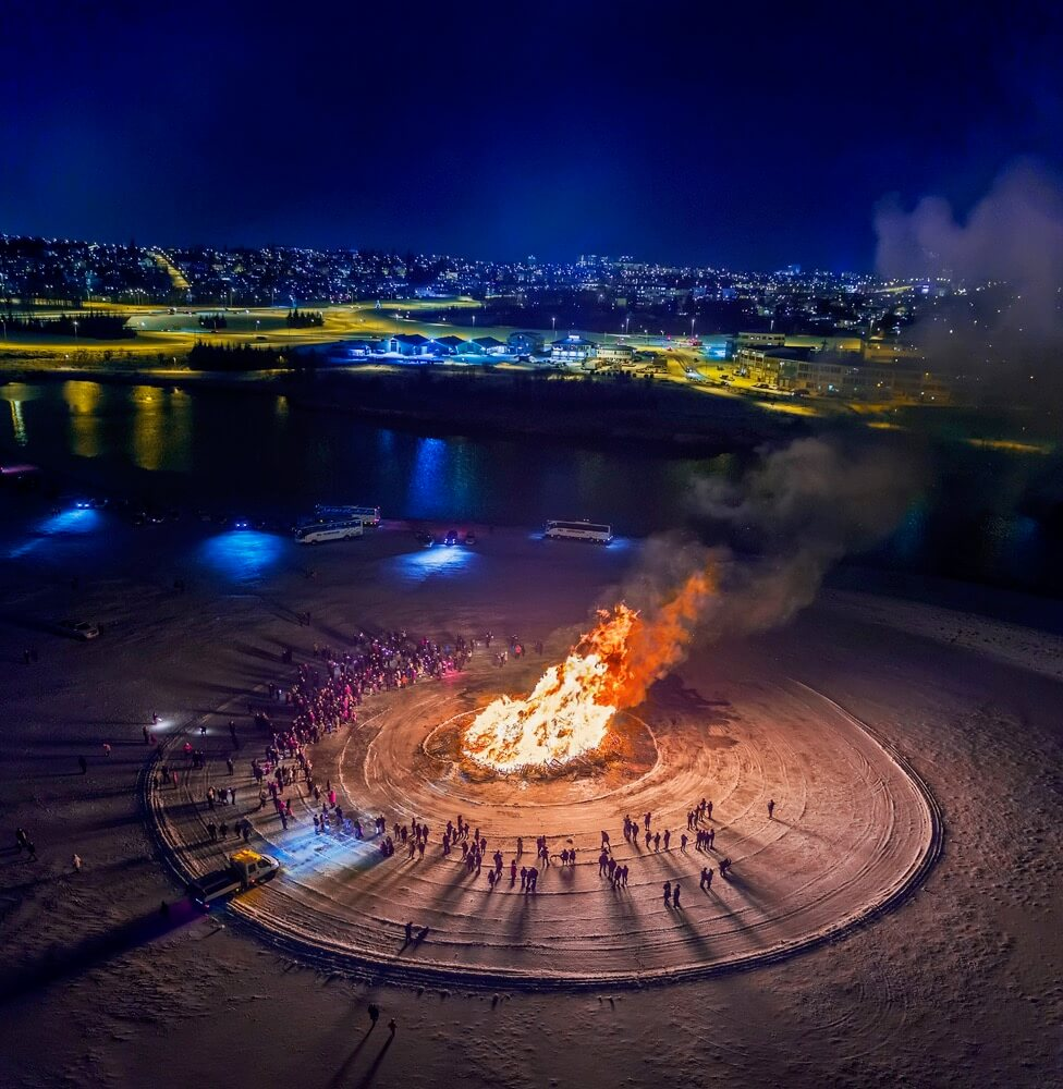 Ragnar Th. Sigurdsson - Bonfire, New Year´s Eve Celebration, Reykjavik, Iceland.