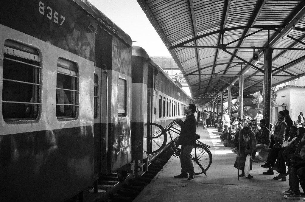 Rakib Hasan Sumon - bicycle train station Bangladesh