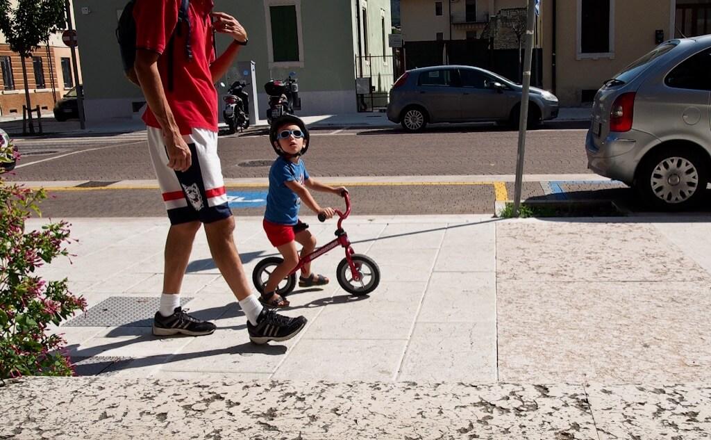 Lynne Otter - Sunday bike ride with dad. Negrar. veneto Italy
