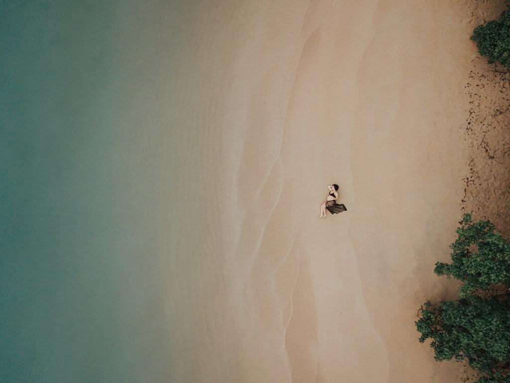 Ejemplo Fotografía aérea. José Antonio Moreno - retrato aéreo de maternidad
