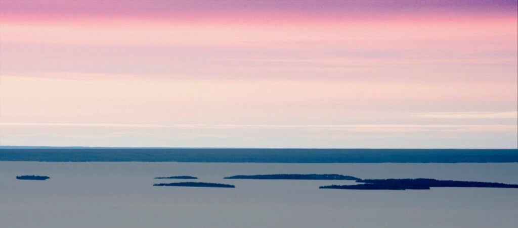 Ron Miller/ Al Orlando - Sunset on Lake Nipissing