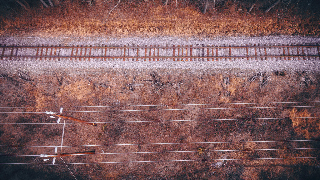 Steve Stanger - train tracks (DJI Phantom photo)