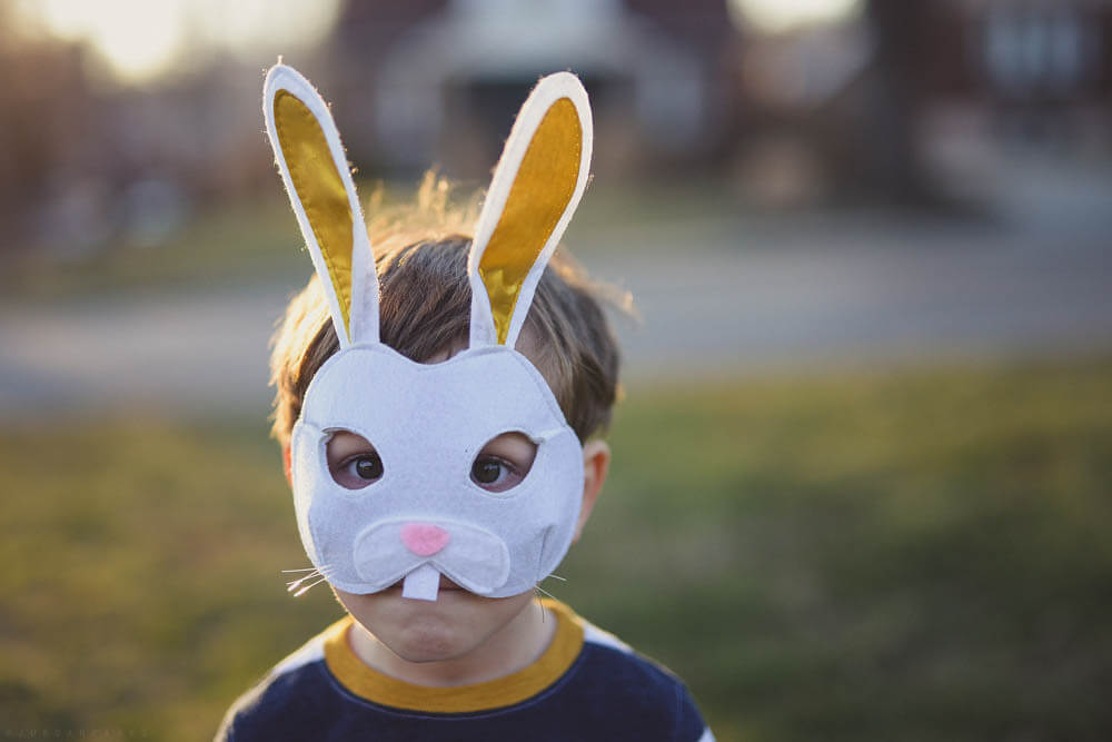 jordan parks - Easter rabbit mask