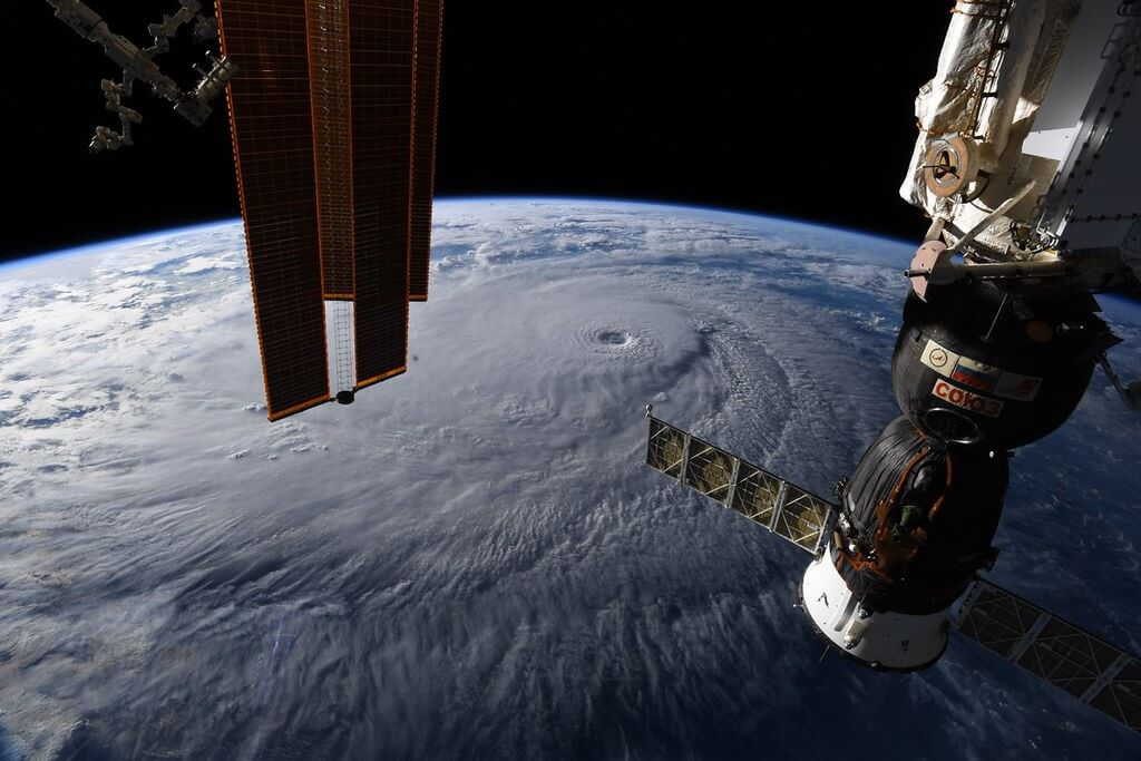 Hurricane Lane from the ISS